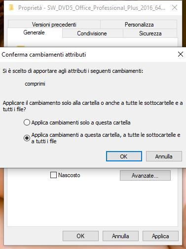 compressione NTFS