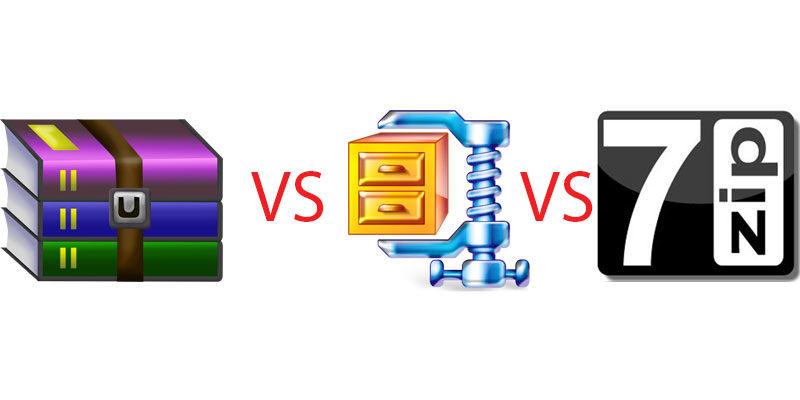 7-Zip vs WinRAR vs WinZIP