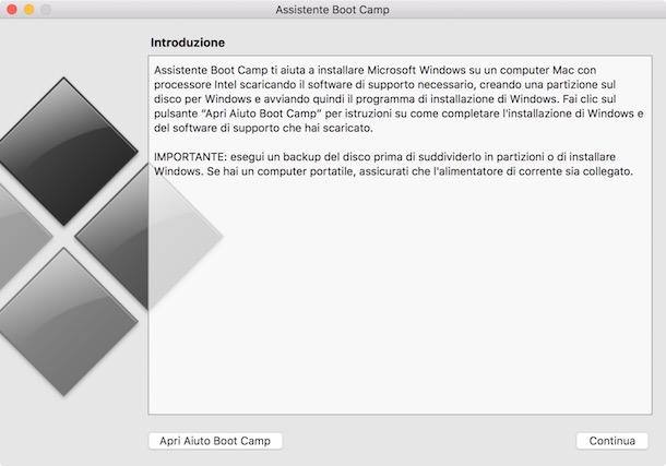 Installare Windows 10 sul Mac