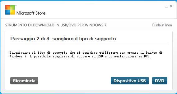 Strumento di download in USB/DVD