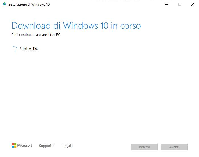 Passare da Windows 7 a Windows 10