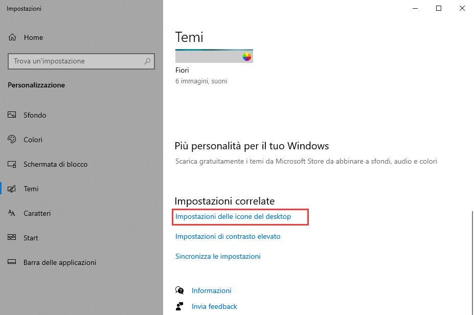Icone del Desktop