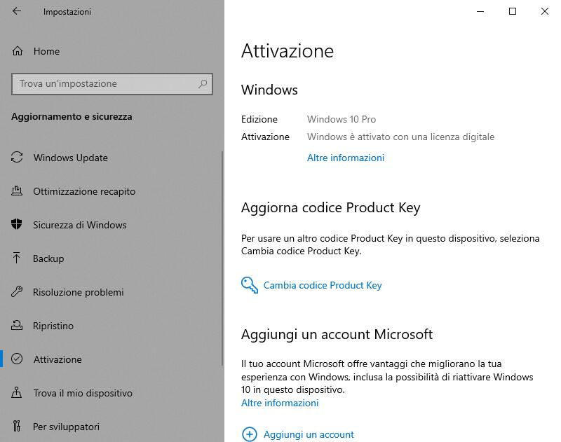 Reinstallare Windows 10